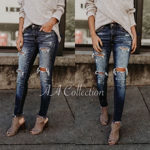 193260917f0 Denim - Distressed jeans denim skinny skinnies 0-15